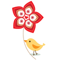 Valentines bird design vector image vector image