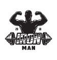vintage bodybuilding label template vector image vector image
