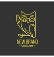 Vintage owl logo in thin line style vector image vector image