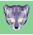 Violet low poly ocelot vector image