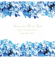 Watercolor Blue flowers card vector image vector image
