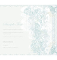 wedding floral invitation card vector image vector image