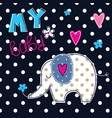 with cute elephant vector image vector image
