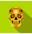 Mexican skull icon flat style vector image