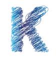sketched letter K vector image