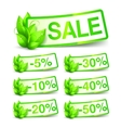 Green Nature Sale Tags vector image