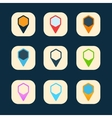 Set of colored icons to indicate the empty space vector image