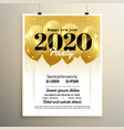 2020 new year party cover template design vector image