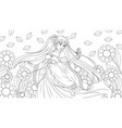 a beautiful fantasy girl vector image vector image