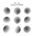 abstract modern halftone dots pattern black and vector image