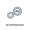 ad optimization icon symbol creative sign from vector image vector image