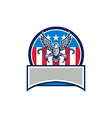 american eagle clutching towing j hook circle vector image vector image