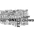 are you lonely in this crowd text word cloud vector image vector image