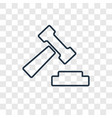 auction concept linear icon isolated on vector image