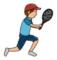 avatar man playing tennis vector image vector image