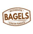 bagels grunge rubber stamp vector image