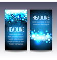 bokeh blue lights flyer templates vector image vector image