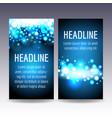 bokeh blue lights flyer templates vector image