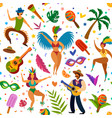 brazilian carnival seamless pattern dancers and vector image vector image