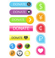 button for the site donate vector image vector image