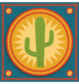 cactus on stylized background vector image vector image