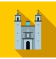 Cathedral in Valladolid Mexico icon flat style vector image vector image