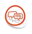 Chatting sign sticker orange vector image vector image