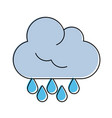 cloud with rain drops icon image vector image vector image