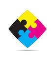 CMYK colors design vector image vector image