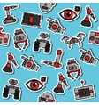Colored robotic pattern vector image vector image