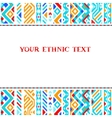 Colorful ethnic geometric aztec template vector image vector image