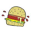 comic cartoon burger vector image vector image