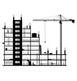construction site on a white background vector image vector image