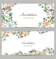 cute floral invitation cards for your design vector image vector image