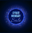 cyber monday sale technology background in neon vector image vector image
