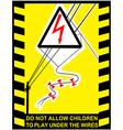 Danger High Voltage signs banner vector image