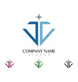 diamond logo template icon design vector image