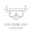Divig mask icon with bubbles vector image vector image