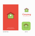 dog house company logo app icon and splash page vector image
