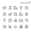 eco line icons editable stroke vector image