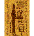 Egyptian hieroglyphs and fresco vector image vector image