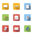 Employee icons set flat style vector image vector image