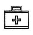 figure suitcase with medical first aid kit vector image vector image