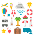 Flat design beach items set vector image vector image