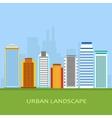 flat of city urban landscape vector image vector image