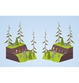 Footpath in the mountains vector image vector image