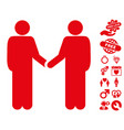 friend meeting icon with love bonus vector image vector image