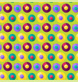 funny colorful musical vinyl record pattern vector image