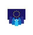 gdpr general data protection regulation eu map vector image vector image