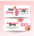gift certificate coupon template vector image vector image